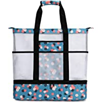 CAMTOP Mesh Beach Bag with Detachable Cooler Oversized Beach Tote with Pockets Pool Toy tote bag for Beach, Picnic…