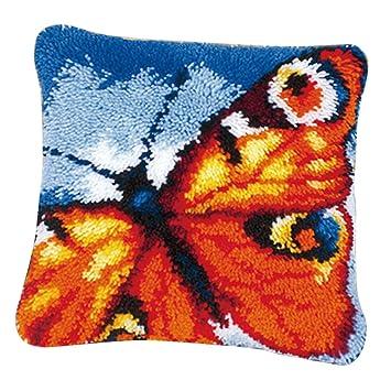 Muster Ausw/ählbar Baoblaze DIY Kissenbezug Kn/üpfkissen f/ür Kinder und Erwachsene zum Selber Kn/üpfen Kissen H/ülle Latch Hook Kit Schmetterling