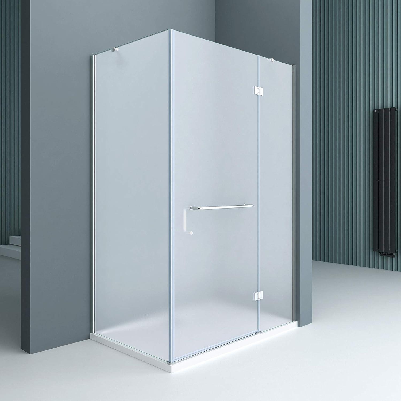 Sogood Cabina de ducha esquinera Rav04S 75x120x190cm, mampara de vidrio de seguridad satinado | Con Revestimiento - Nano: Amazon.es: Bricolaje y herramientas