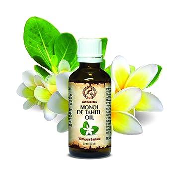 Aceite de Monoi de Tahiti 50ml - Cocos Nucifera - Francia - 100% Natural - Prensados en Frío - Multifuncional - Humectante - para el Rostro - Cabello ...
