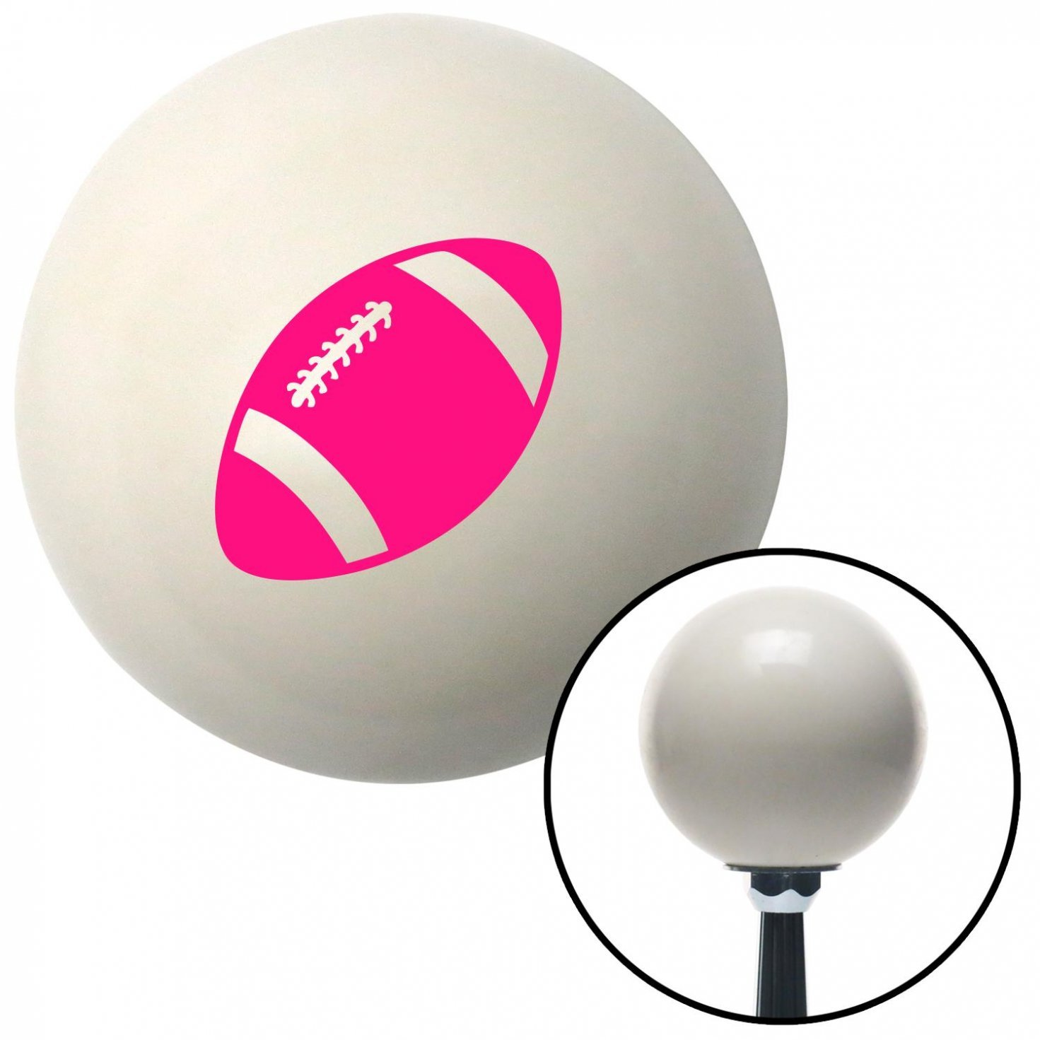 Pink Football American Shifter 33834 Ivory Shift Knob with 16mm x 1.5 Insert