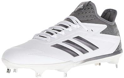 bdcc53818fac adidas Men's Freak X Carbon Mid Baseball Shoe, FTWR White, Iron, Silver met