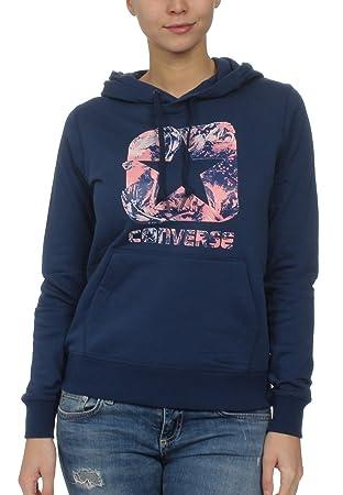 Converse Graphic BOXSTAR Pullover Hoodie - Sudadera, Mujer, Azul(Navy): Amazon.es: Deportes y aire libre
