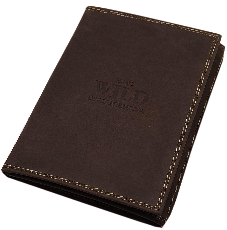 Leder Ausweis- und Kreditkartenetui in Schwarz oder Braun (Braun)