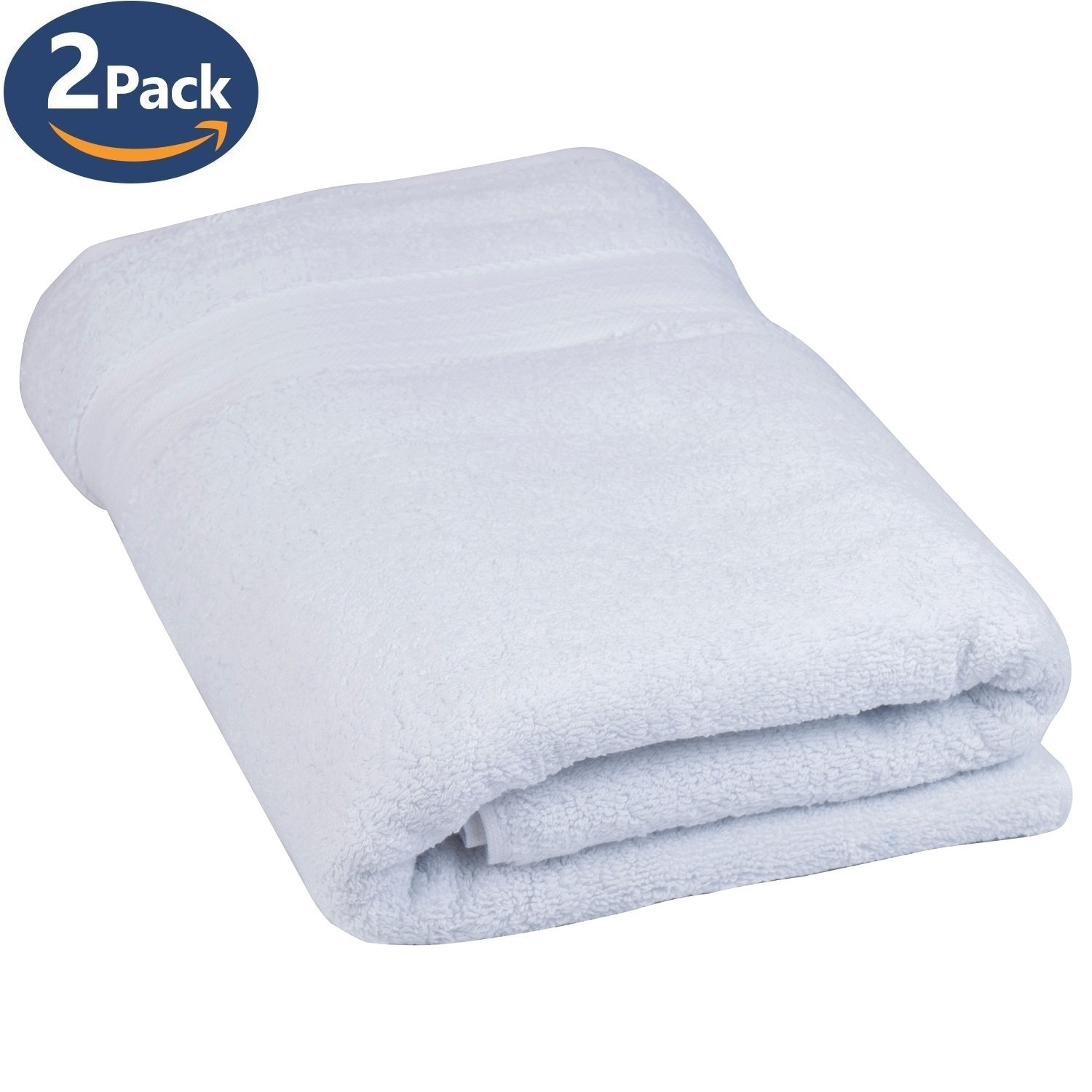 1,000 GSM Fast Drying Extra Large White Bath Sheets, Premium Turkish Cotton Towels, White With Luxury Striped Dobby - 30