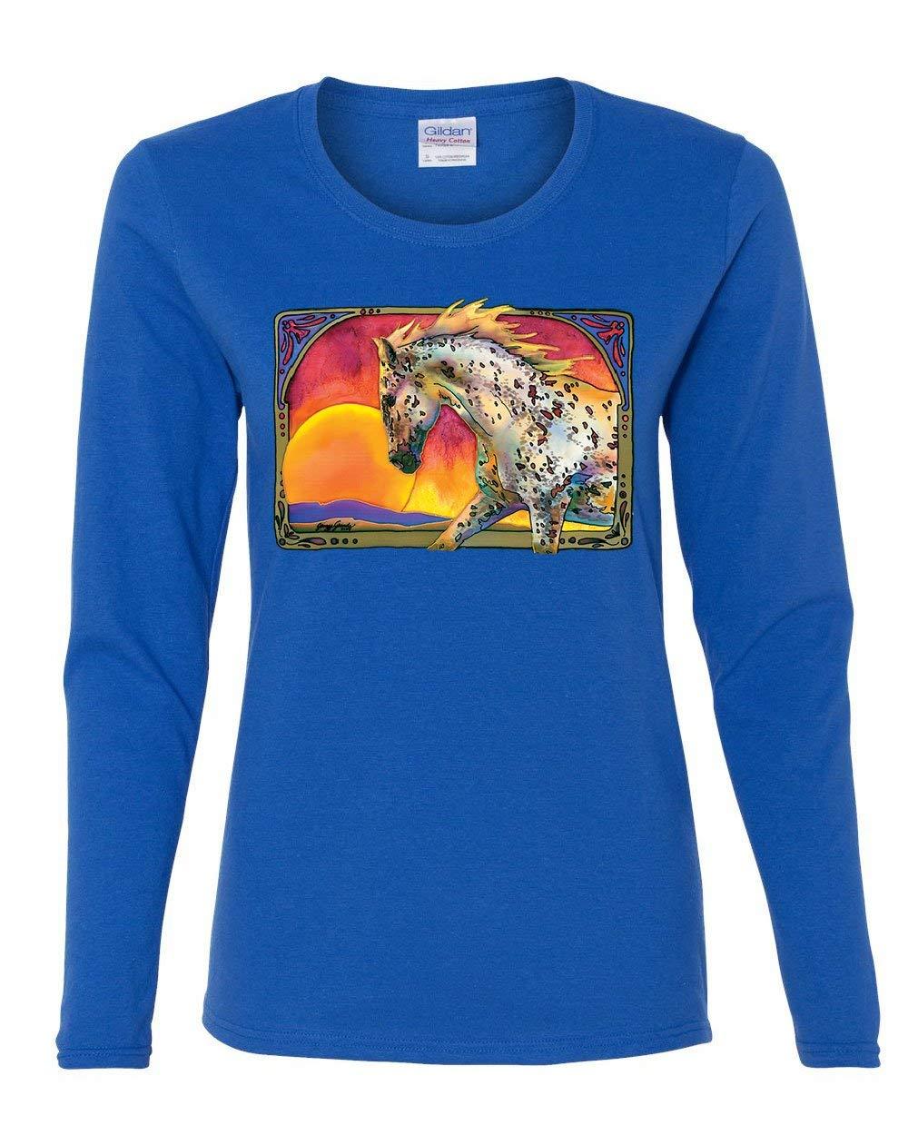 Horse Prancing In Sunset Tee Animal Wildlife Mare Stallion Shirts