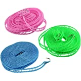 Nylon Clothesline Rope (Multicolour, 5m)