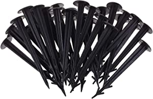 COSMOS 50 Pcs 4.5 Inches Multifunctional Plastic Yard & Garden Stakes Anchors for Plant Support, Holding Down Tents