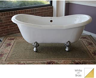 """product image for Duchess 68"""" x 30"""" Bathtub Color: Brass"""
