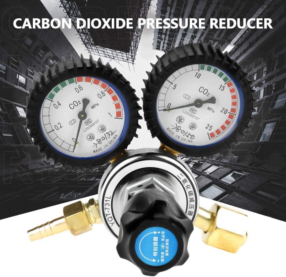 Gas Bottle Regulator CO2 Gas Bottle Regulator Carbon Dioxide Welding Pressure Reducer G5//8