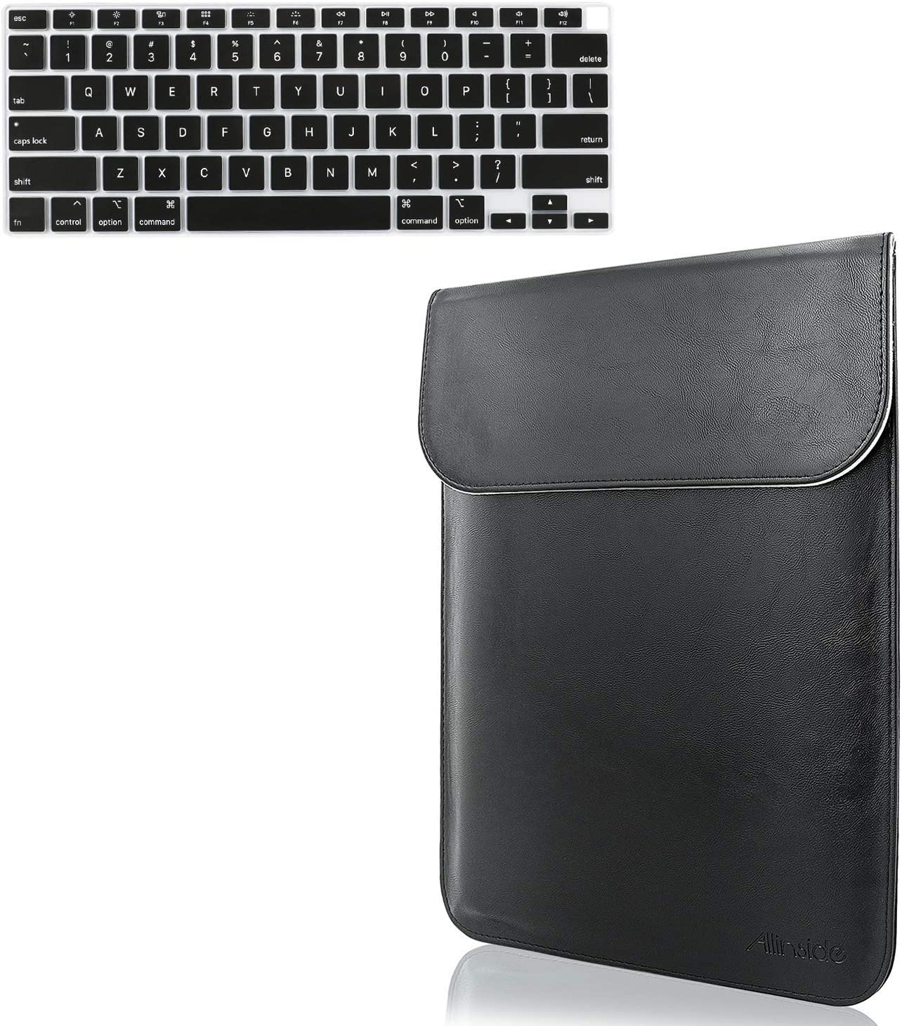 Allinside Laptop Sleeve and Keyboard Cover Skin Protector for 2020 MacBook Air 13 inch A2179 with Touch ID and Retina Display US Version, Black