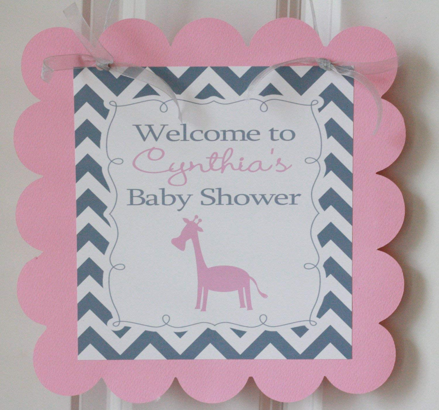 Baby Giraffe Congratulations New Baby Personalized Banner Party Decoration