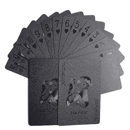 Black Matte Plastic Poker Cards ANIMAL DOMÉSTICO naipes a prueba de agua para juegos de mesa Naipes profesional del póker De plástico de alta calidad ...