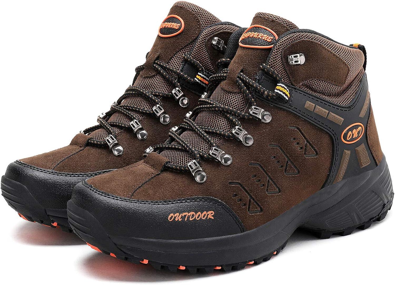 Mens Mid Trekking Hiking Boots Outdoor Lightweight Hiker
