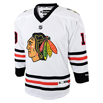 da37d3386e0 Youth Chicago Blackhawks Jonathan Toews #19 Away Replica Jersey Reebok  (Small/Medium)
