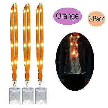 Amazon.com: Cordones LED para collar, intermitentes, brillan ...