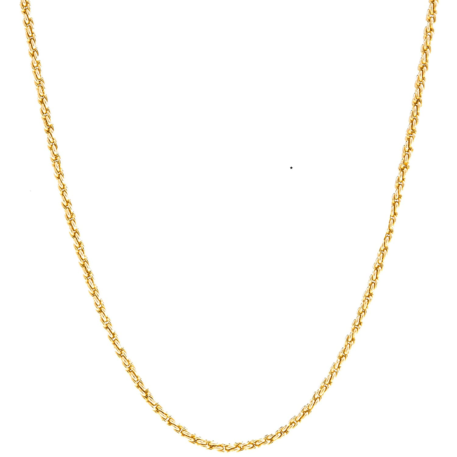 Lifetime Jewelry 1MM Rope Chain 24K Gold with Inlaid Bronze