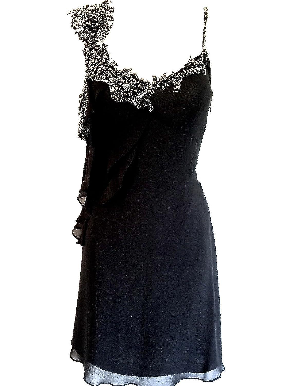 Karen Millen Lace Beaded Black Silk Tunic Dress