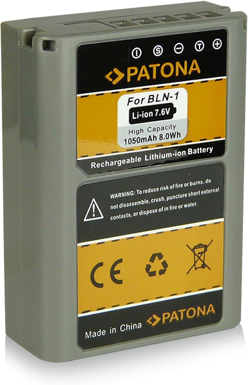 2X Batterie comme BLN-1 Compatible avec Olympus Om-D E-M1 E-M5 Pen E-P5 PATONA Dual Chargeur