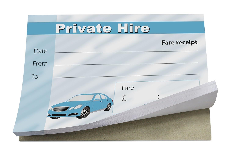 in inglese Blocchetti per ricevute per taxi A7 Design 1