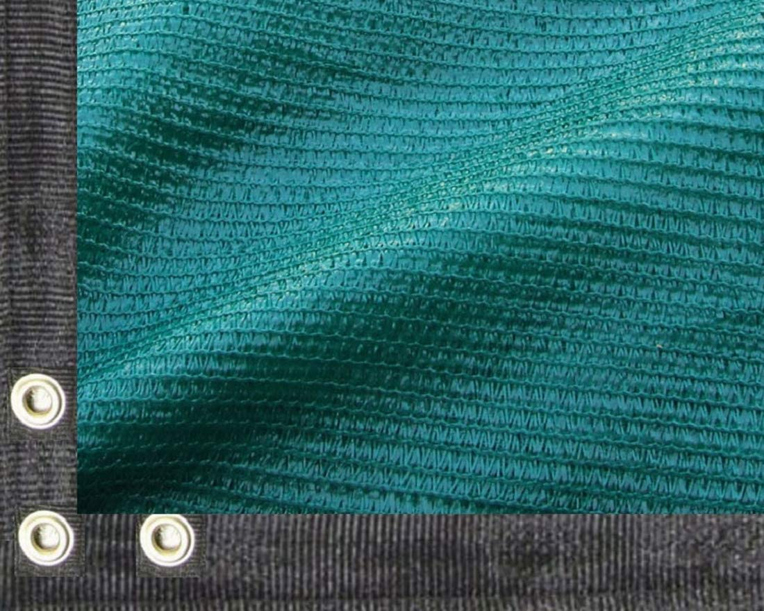 EasyShade 80 Heavy Duty Green Shade Cloth Taped Edge with Grommets UV 12ft 32ft Wide 20 x 30