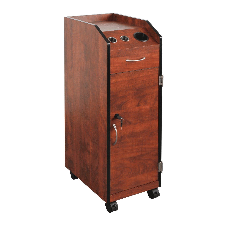 PureSana Keystone Cherry II Lockable Wood Trolley