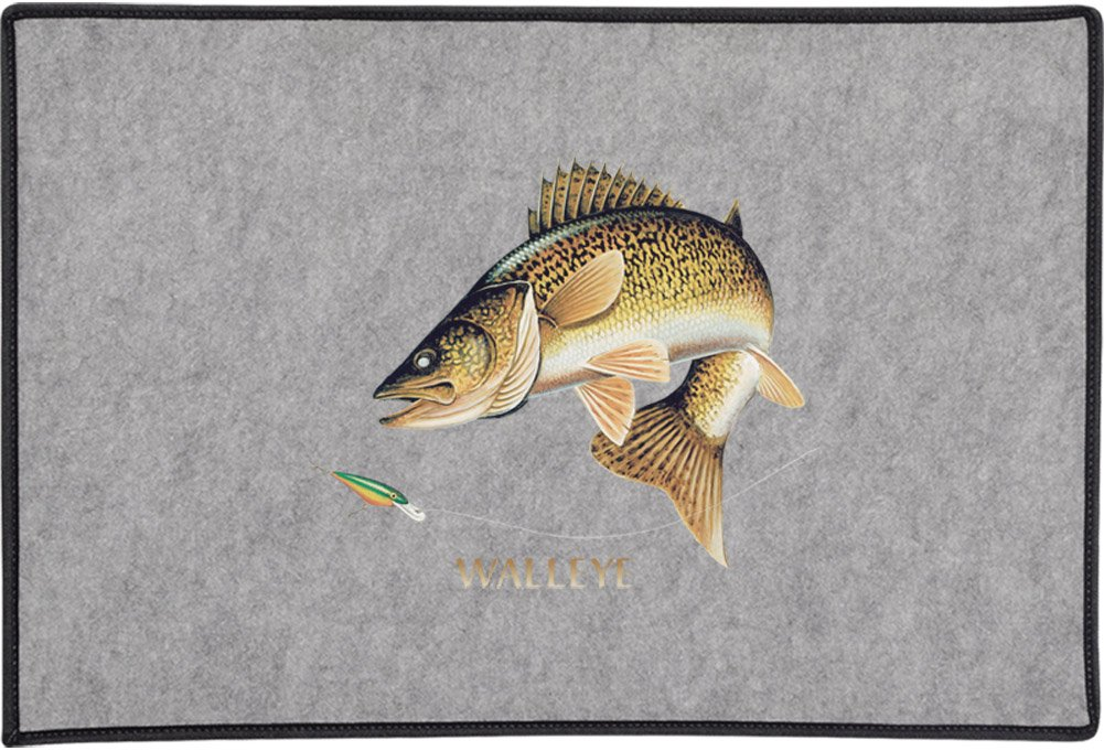 Gray Express Yourself Products Walleye Combination Door and Welcome Mat