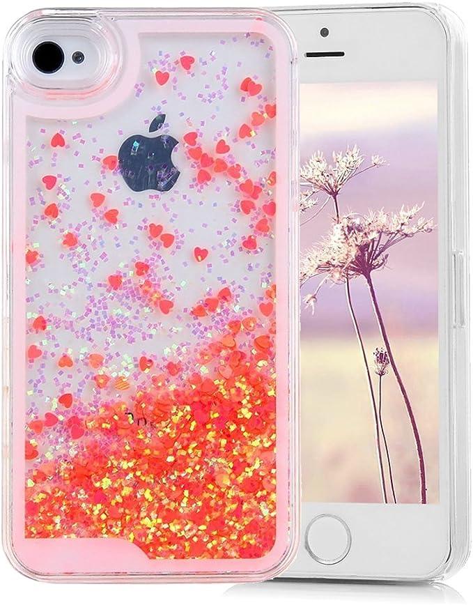 iPhone 4S Coque, iPhone 4 Coque Leecoco 360 ° Polyvalent Coque de Protection Bling Paillettes Strass Anti Scratch Souple en TPU Transparent Coque en ...