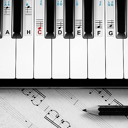 Pegatinas para piano y teclados, para instrumentos con 49, 61 ...