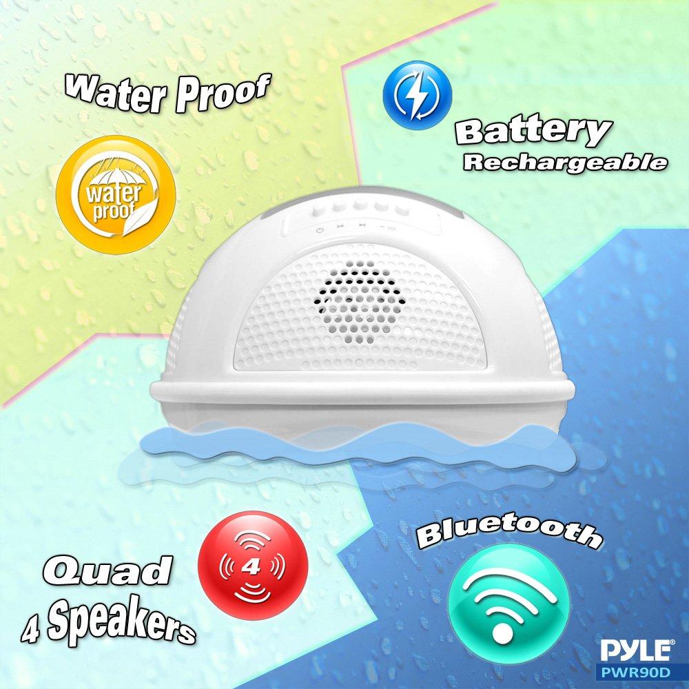 Amazon.com: Pyle PWR90DWT Aqua Blast Waterproof Bluetooth Floating ...