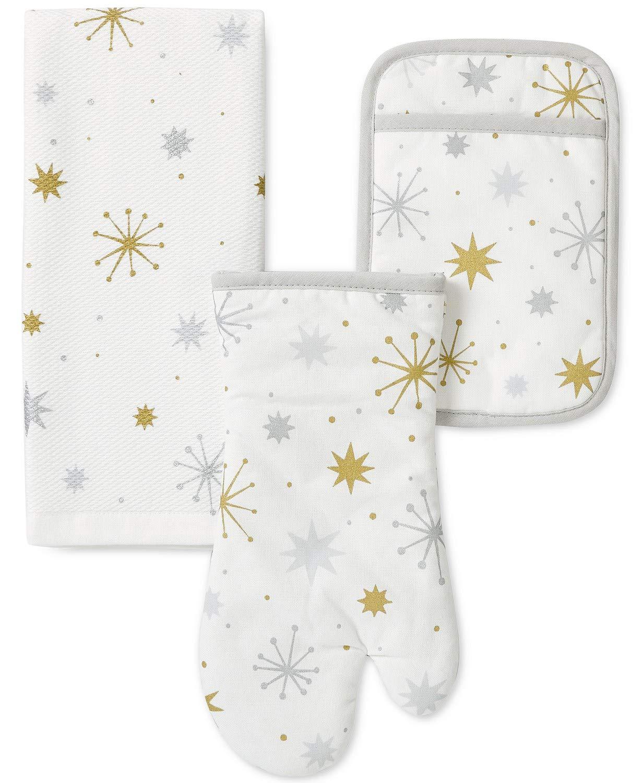 Kate Spade Starburst 3 Piece Holiday Linen Set