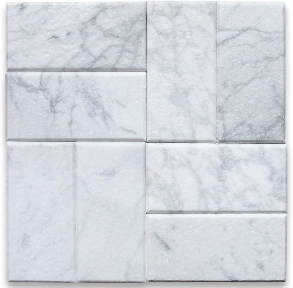 - Amazon.com: Carrara White Italian Carrera Marble Subway Tile 3 X 6