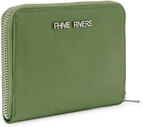 Green, PR1225 Phive Rivers Womens Leather Wallet