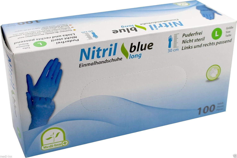 Guanti in nitrile extra lungo colore Blu 30/cm 100/pezzi