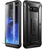 Samsung Galaxy S8 Case, SUPCASE Full-body Rugged Holster Case with Tempered Glass Screen Protector for Galaxy S8 (2017 Release), Unicorn Beetle Shield Series - Retail Package (Black/Black)