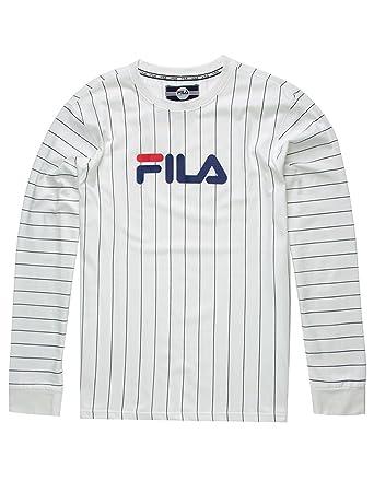 8139cabc21c0 Amazon.com: Fila Men's Mario Long Sleeve T-Shirt White 3X-Large ...