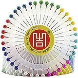480 pcs Épingles Droites Pins Épingles à Tête Ronde pour Couture Décoration de Mariage Artisanat DIY - Multicolore