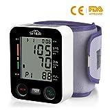 SIMBR Misuratore di Pressione da Polso Digitale Completamente Automatico2×99 Memorie di Dati per 2 Utenti Usare in Casa e Viaggio Certifica CE/ROHS/FDA