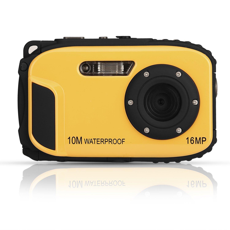 GordVE KG003 2.7 Inch LCD Cameras 16MP Digital Camera Underwater 10m Waterproof Camera+ 8x Zoom--Yellow by KINGEAR