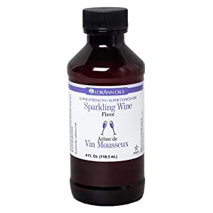 LorAnn Sparkling Wine Super Strength Flavor, 4 ounce bottle