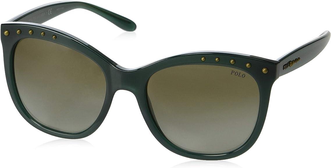 Amazon.com: Gafas de sol Polo PH 4140 54468E OPALINE GREEN ...