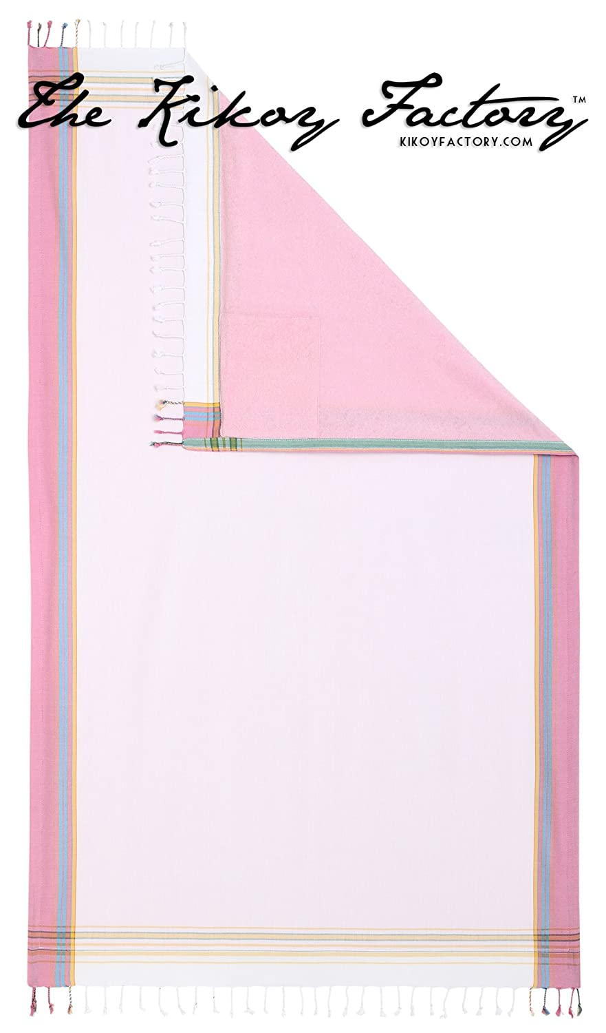 Kikoy Factory - Toalla de playa / Pareo - Toalla de baño - Kikoy Towel 13226S1 - Color : Rose White - Tamaño : 95 x 165 cms: Amazon.es: Hogar