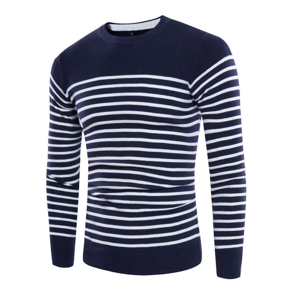 Gndfk Herbst und Winter Collar Pullover, männer gestreiften Pullover, self-Cultivation Pullover,Die Marine in Tibet,M