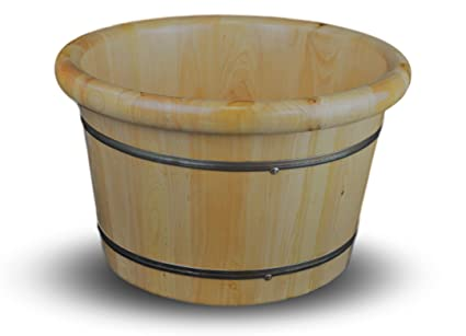 Amazon.com: Solid Cedar Wood Foot Basin Tub Bucket for Foot Bath ...