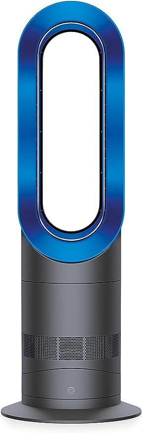 Dyson AM09 Fan Heater, Iron/Blue