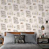 SALE SPECIAL Fresco Vintage Look Lovely Day Motif Cream Wallpaper Was GBP10 Now GBP5