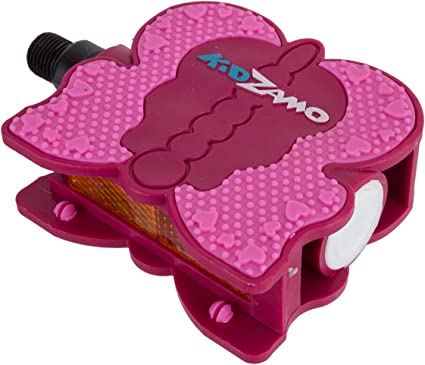 """KIDZAMO BUTTERFLY PLASTIC PINK  1//2/"""" BICYCLE PEDALS"""
