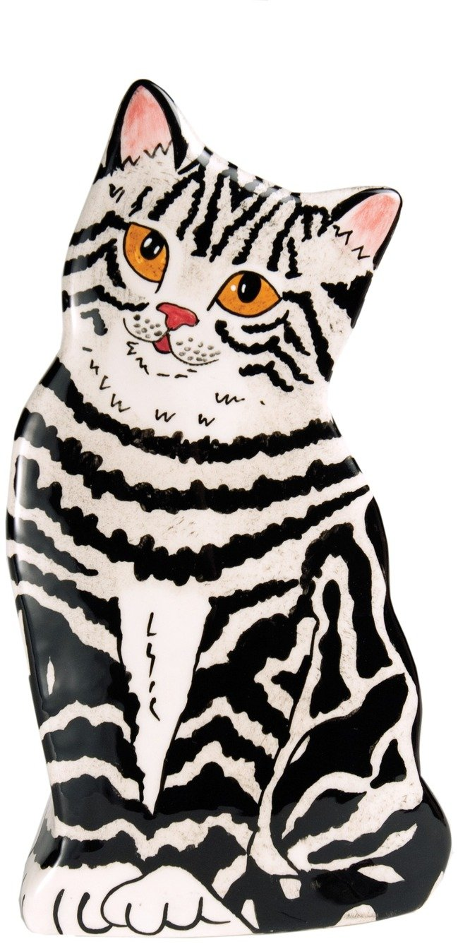 Rescue Me Now Pavilion Gift, Large Gray Tabby Vase, 8-1/2-Inch Tall