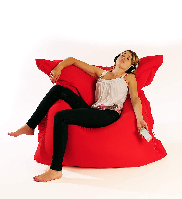 160cm x 140cm Chocolate Comfy Living Giant Bean Bag Indoor Outdoor Garden Floor Cushion Bean Bags
