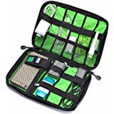 Findbest® Grid Travel Office Universal Cable Organizer Electronics Accessories Cases Waterproof Storage Bag For Various USB, Phone, Charger and Cable